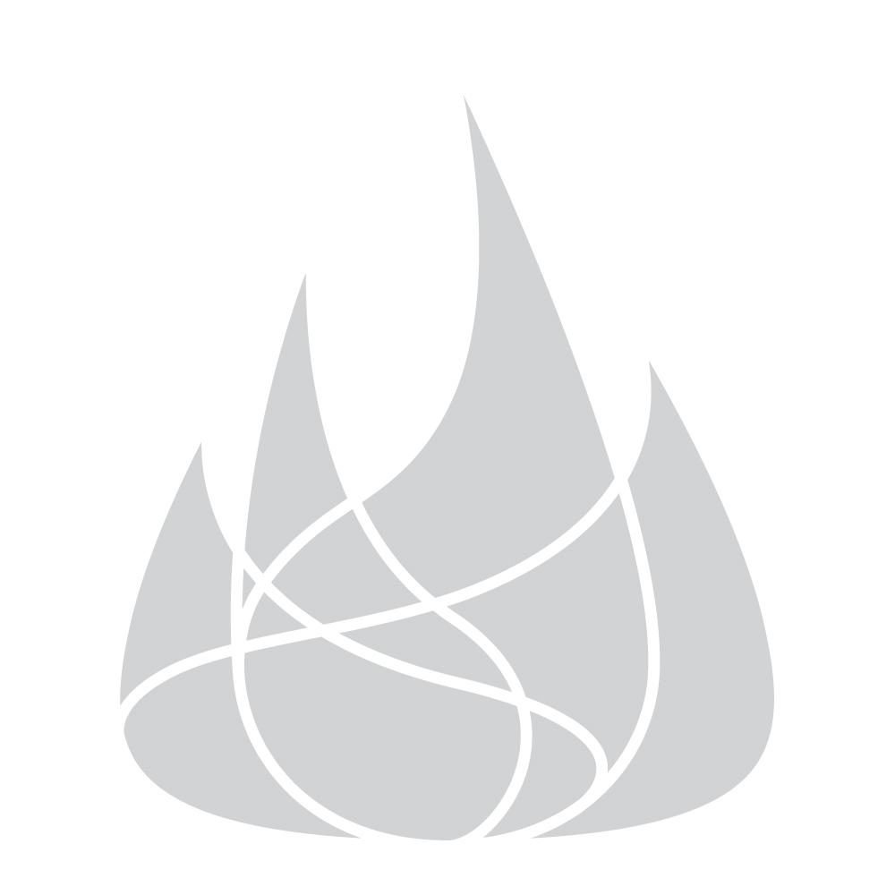 Center burner adjusts from 400 to 20,000 BTUs