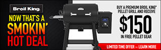Buy a Broil King Pellet Grill and Receive $150 in Pellet Gear