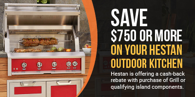 Save $750 or more on your Hestan Outdoor kitchen