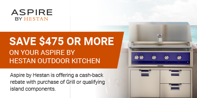 Save $475 or more on your Aspire by Hestan Outdoor kitchen