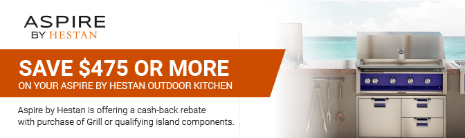 Save $475 or more on your Aspire Outdoor kitchen