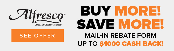 Save Up to $1000 on your Alfresco Outdoor kitchen