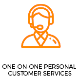 One-on-One Personal Customer Service