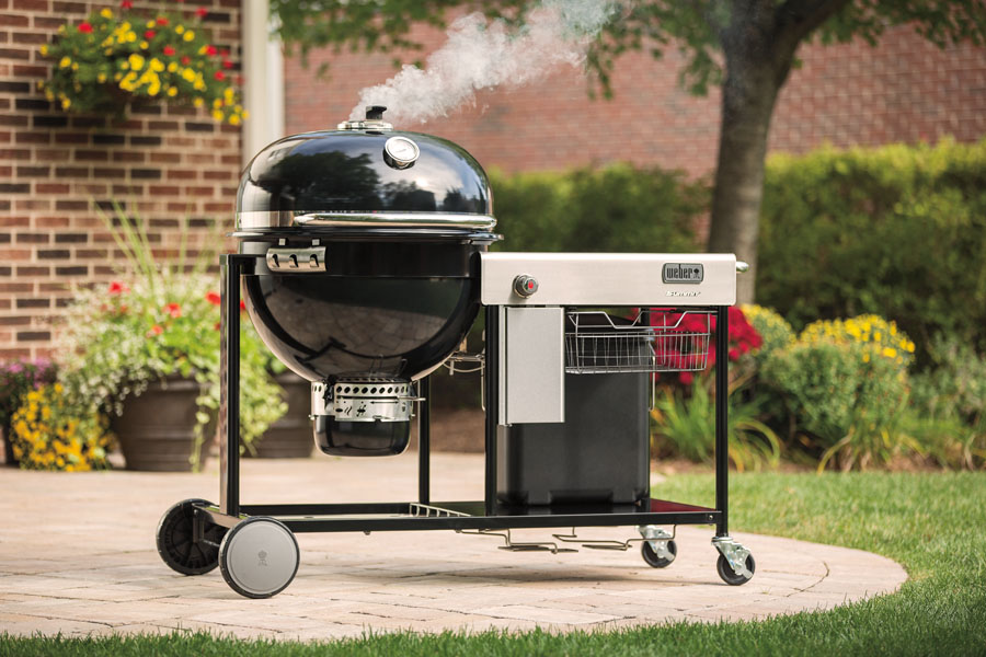 The new Weber Summit Charcoal grilling center