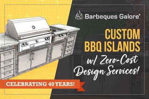 Custom BBQ Islands w/ Zero-Cost Design Services!