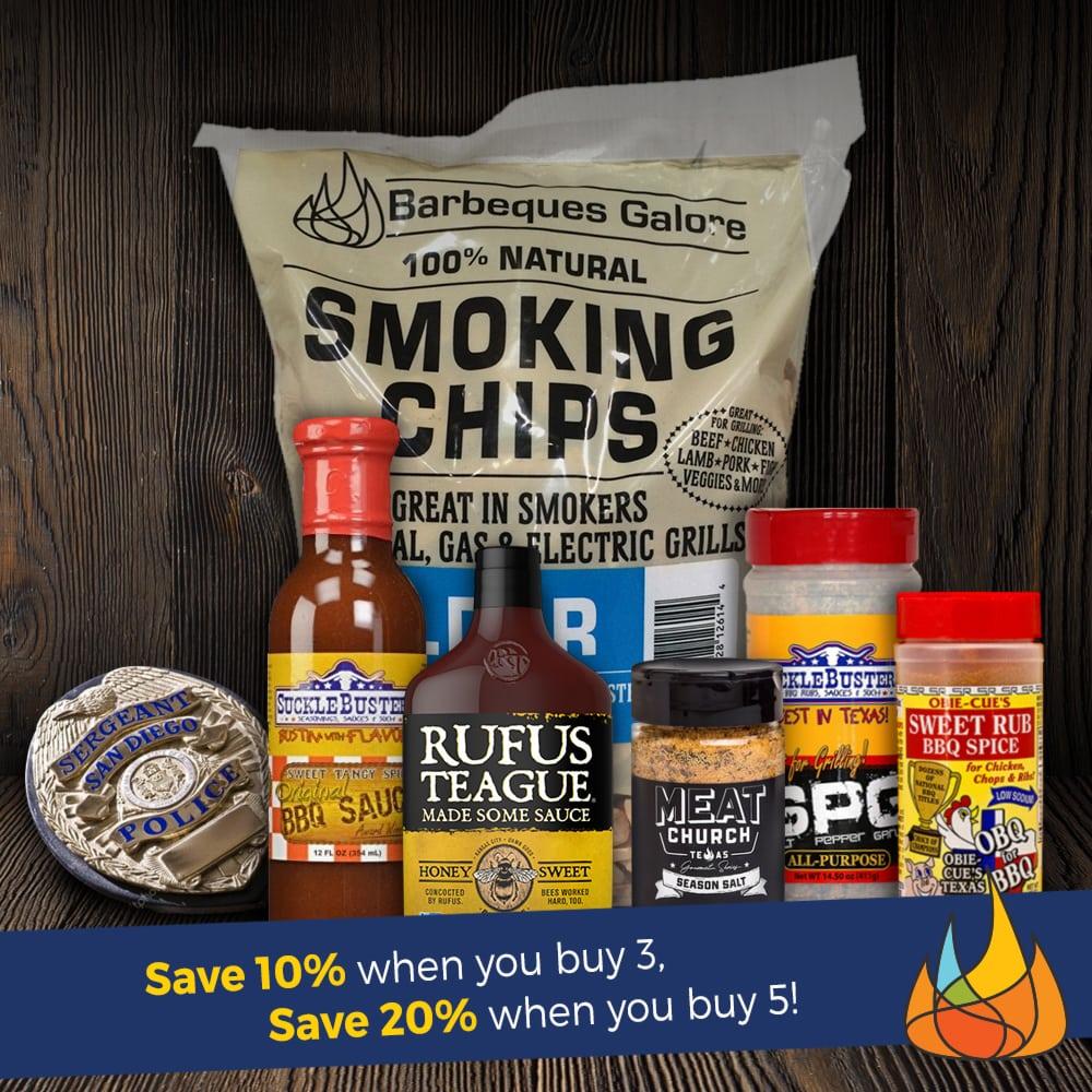 Buy 3 save 10%, Buy 5 save 20%