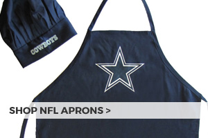 NFL aprons and chef hats at Barbeques Galore