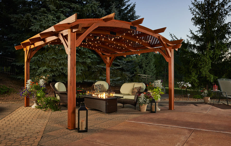 Pergolas, outdoor fireplaces and fire tables now available from Outdoor Greatroom