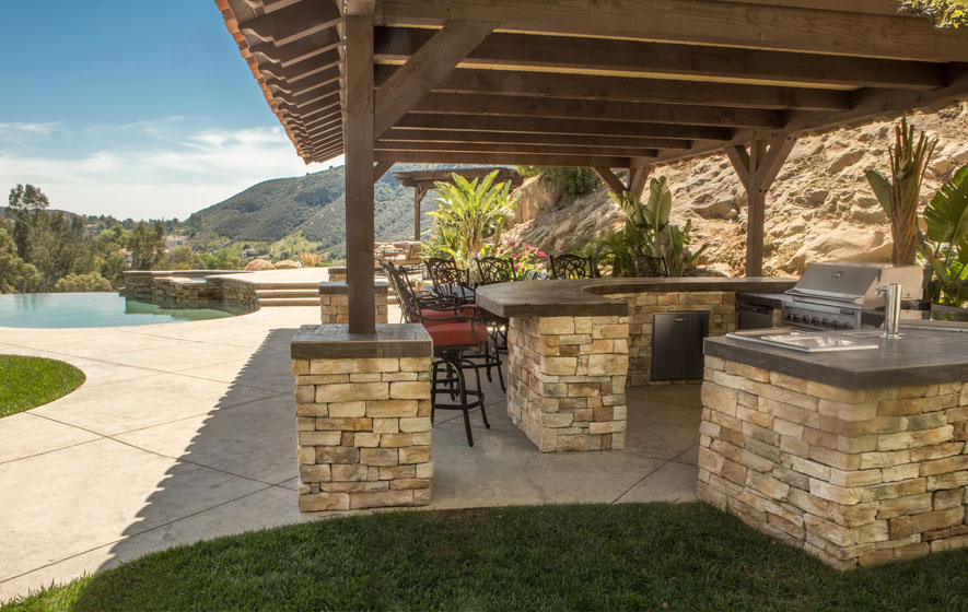 Custom outdoor kitchens designed by Barbeques Galore