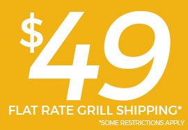 Flat rate shipping on grill purchases at Barbeques Galore