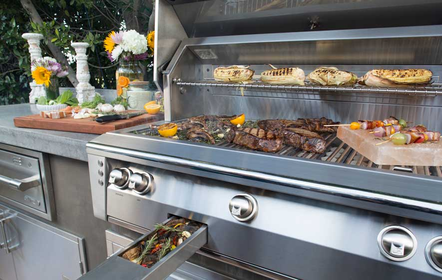 Shop Alfresco grills and island accessories at Barbeques Galore
