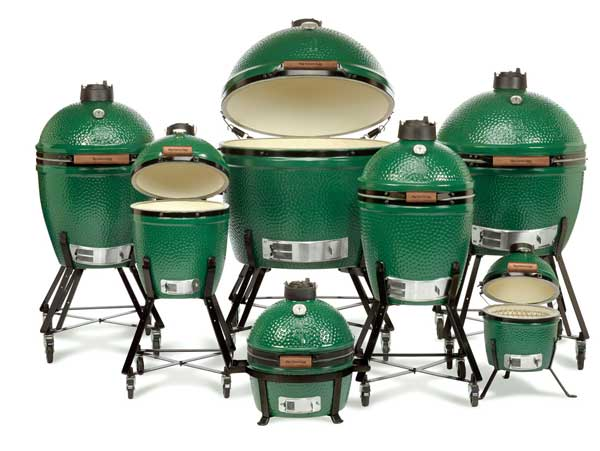 The Big Green Egg family of grills at Barbeques Galore