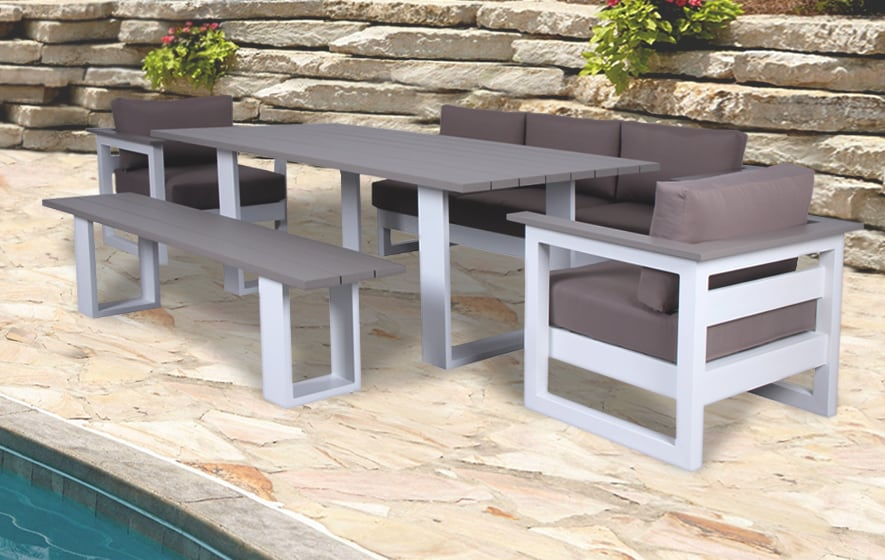Add comfort with a modern touch to your backyard!