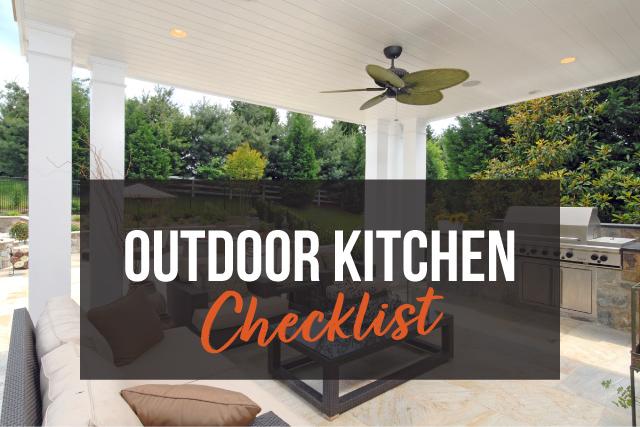 Outdoor Kitchen Checklist